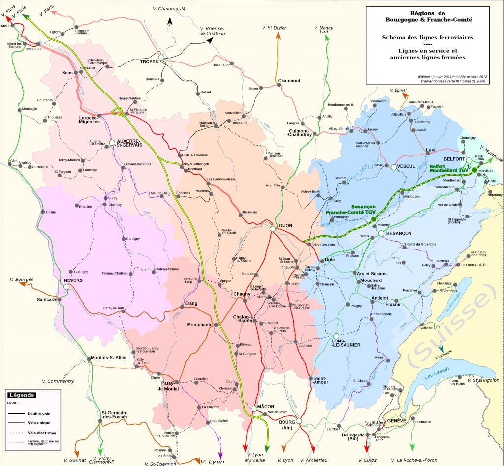 représentation ferroviaire des réseaux
