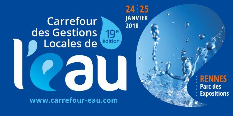 Les 24 et 25 janvier 2018 se tiendra, au Parc des expositions de Rennes, le Carrefour des gestions locales de l'eau. Un événement dédié aux professionnels des réseaux d'eau et de l'assainissement, à l'occasion duquel vous pourrez retrouver l'équipe GiSmartware et près de 450 autres exposants. Petit tour d'horizon du salon.